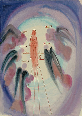 Salvador Dali, Divine Comedy Original Woodcut, Paradise / Heaven Canto 25 (24)