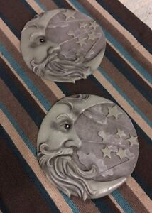 Moon and stars plaques