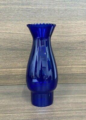 Stunning Vintage Hand Blown Glass Cobalt Blue Oil Lamp Chimney