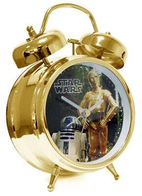 Stars Wars - Wecker Gold mit Droiden Sound - R2-D2 & C-3PO - Joy Toy