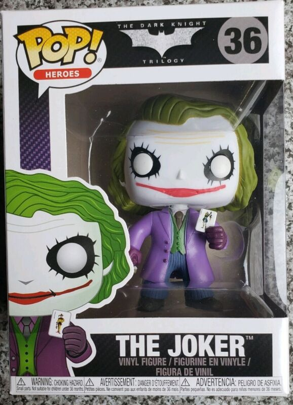 Funko Pop Vinyl Figure Heroes The Dark Knight Trilogy The Joker 36 Heath Ledger