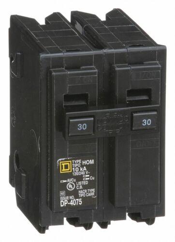 HOM230 Square D 30 Amp 2 Pole 240V Plug In Circuit Breaker New
