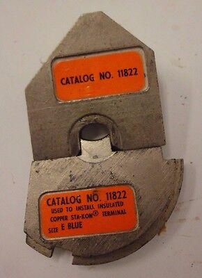 Thomas Betts 11822 Crimping Die Set For Copper Sta-kon Terminal Size E Blue R4