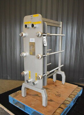 Used Alfal Laval Stainless Steel Plate Heat Exchanger 29 Sq.ft.