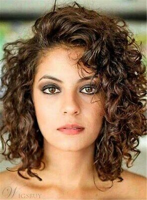 European and American best-selling  short Brown Curly hair