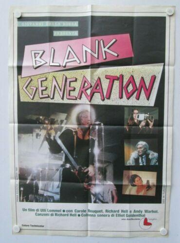 Blank Generation Richard Hell Andy Warhol Vintage One Sheet Film Poster Unused