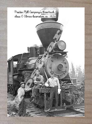 Historic Preston Mill Company Train Postcard