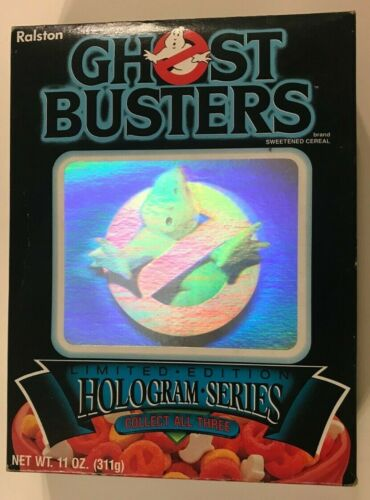 GHOSTBUSTERS 1985 Cereal BOX Hologram SERIES #1 Ralston Purina