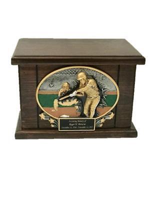 Baseball Cremation Urn, Wood Urn, Baseball Urn, Wooden Funeral Urn, Sports w/eng