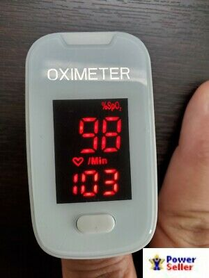 Home Finger Tip Pulse Oximeter Blood Oxygen Meter And Heart Rate Monitor