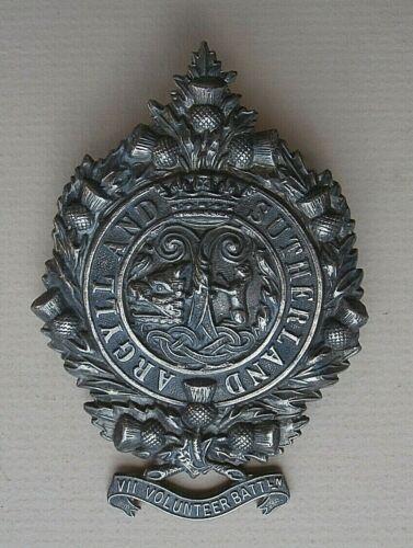 "7th ""VII"" Volunteer Battalion Argyll and Sutherland Highlanders Glengarry Badge"