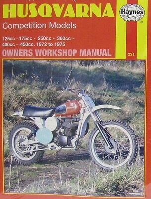 Haynes Manual 0221: Husqvarna Competition Models 125/175/250/360/400/450cc 72-75