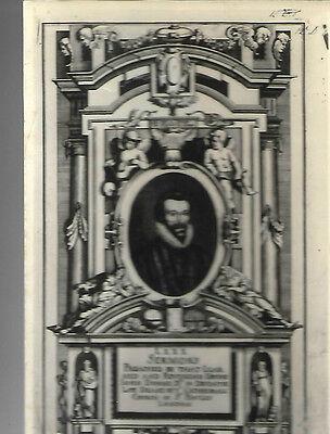 VINTAGE POSTCARD: JOHN DONNE L X X X SERMONS - TITLE PAGE  by Matthaeus Merian