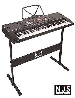 New Jersey Sound Corp 54-Key Digital Music Keyboard Kit With Stand & Headphones