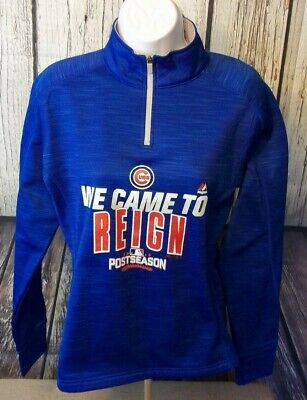 Chicago Womens Long Sleeve (MAJESTIC Therma Base Long Sleeve Pullover Womens Chicago Cubs 2016 Size Small- S)