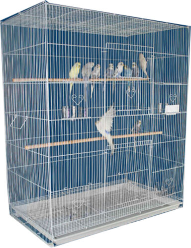 "36"" Large Breeder Flight Bird Cage Parakeets Cockatiels Budgies Finches Aviary"