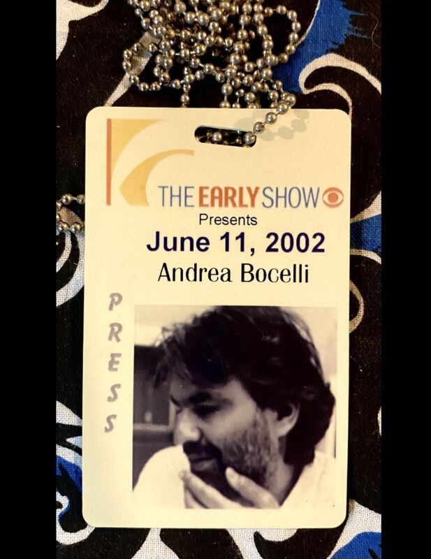 ANDREA BOCELLI PERFORMS FREE OUTDOOR CONCERT - CBS EARLY SHOW - JUNE 11, 2002