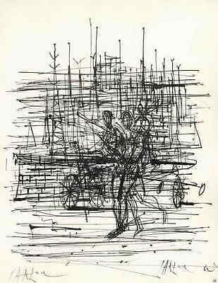Jean CARZOU - STRANDSEGLER - 1963 Handsigniert Druckgraphik a.ARCHES-Bütten