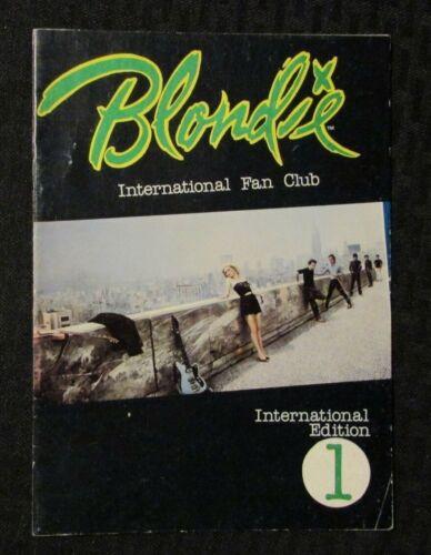 1980 BLONDIE International Fan Club Booklet #1 VG+ 4.5 Debbie Harry 20pgs