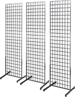 Only Hangers 2 X 6 Grid Wall Panel Floorstanding Display Fixture 3 Pack