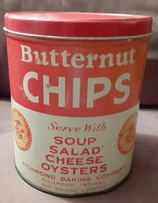 Richmond Baking Company Butternut Chips Collectible Tin! (Read 4 Details)