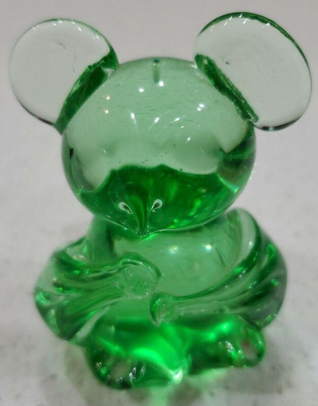 United States Commemorative Fine Art Gallery Koala Bear Green Art Glass Figurine