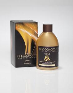 COCOCHOCO GOLD BRAZILIAN KERATIN TREATMENT BLOW DRY HAIR STRAIGHTENING 250ML + S