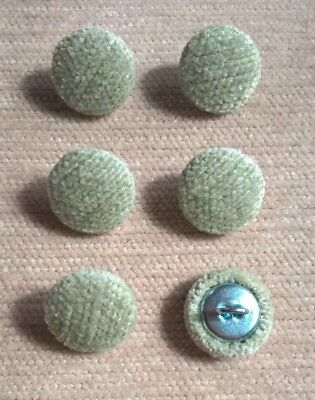 Chenille 24L/15mm Apple Upholstery Fabric Covered Buttons (Green)