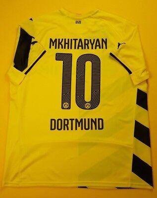 efa3866a1 5 5 Mkhitaryan Borussia Dortmund jersey XL 2014 2015 home shirt Puma soccer  ig93
