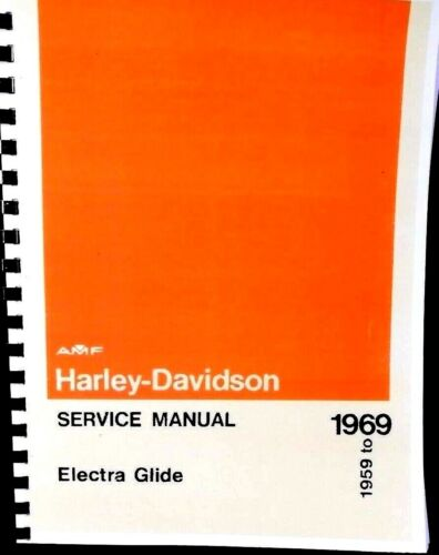 1959-1969  Harley-Davidson Service Manual Electra Glide Duo-Glide  #99482-69