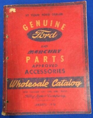 1938-46 Genuine Ford And Mercury Parts Approved Accessories Wholesale Catalog