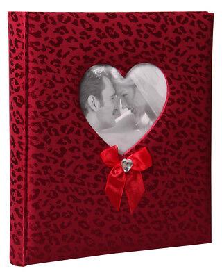 Happy End Fotoalbum in Rot 29x32 cm 60 Seiten Satineinband Hochzeit Album