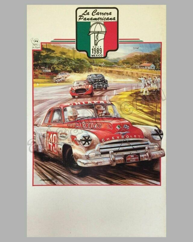 Collection of 4 Carrera Panamericana Mexico event posters by Hector Cademartori