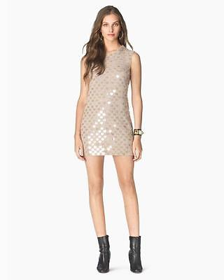 Juicy Couture Goldie Wool Blend Paillette Embellished Dress Size Large NWT $498