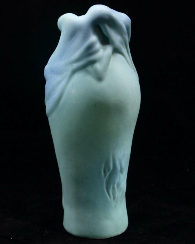 Rare Van Briggle Pottery 1922-1926 USA Lorelei Blue Vase Mint