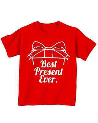 Best Present Ever Toddler Tee Kids Sizes Christmas Shirts 2T 3T 4T 5T Cheap
