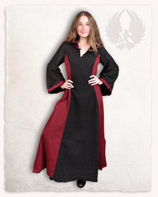 Iris Kleid Canvas schwarz/bordeaux LLARP Mittelalter (2-AC1803 Links)