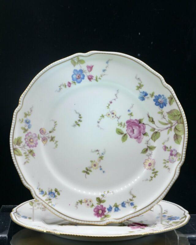 2 Castleton China Sunnyvale Dinner Plates 1940-72 Retired