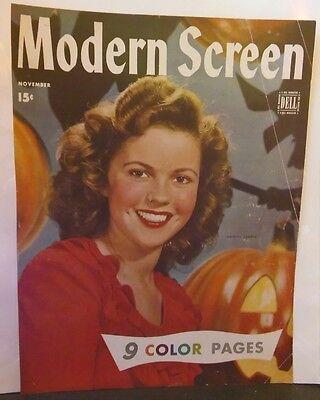 Vintage 1940's Shirley Temple Modern Screen Magazine cover photo Halloween - Halloween Movie Cover Photos