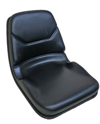 Black Vinyl Bucket Seat With 11.25 By 11.50 Mounting Metal Frame Fast Shipping