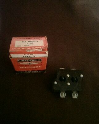 Cutler Hammer 10250T3 Contact Block 2NC New In Vintage Box