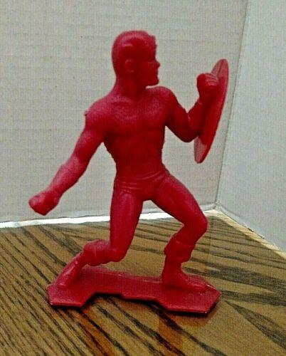 Captain America Vintage Louis Marx Plastic Figure/Red Plastic/5 1/2 Inches