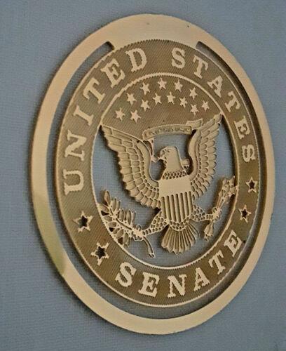 Vtg NWOT US Senate Eagle Seal Book Marker Gold Tone Senate Only Shop Wash DC