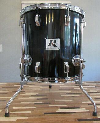 "1980's Rogers XP8 16"" x 16"" Deep Black Wrap Floor Tom Drum"