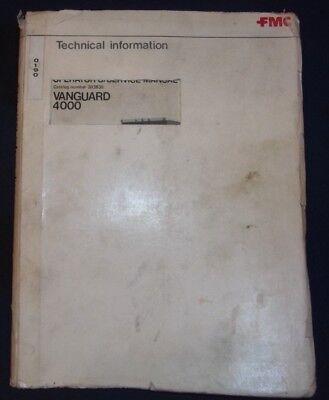 Fmc Vanguard 4000 Street Sweeper Service Shop Repair Manual Book 303835