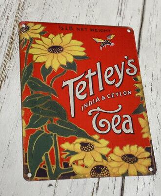 Vintage Food & Drink, 89 Tetley's Indian Tea Cafe Kitchen, Medium Metal Tin Sign