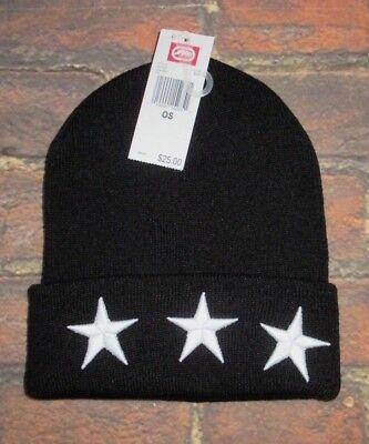 Stars Black Beanie - MENS ECKO UNLTD STARS BLACK BEANIE HAT CAP ONE SIZE