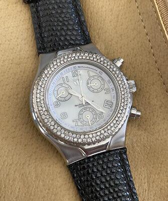 TechnoMarine Techno Lady Chronograph Watch With Diamond Bezel - Silver/Pearl