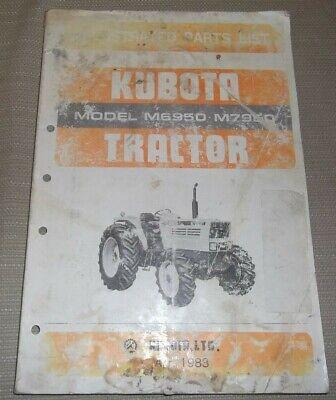 Kubota M6950 M7950 Tractor Parts Manual Book Catalog Oem Original