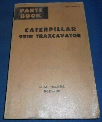 Cat Caterpillar 951b Track Loader Traxcavator Parts Book Manual Sn 86j1-up